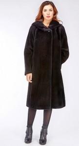 Российское пальто из альпака с капюшоном